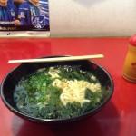 茨木市の阪急本通商店街のたつみやさんのわかめうどん