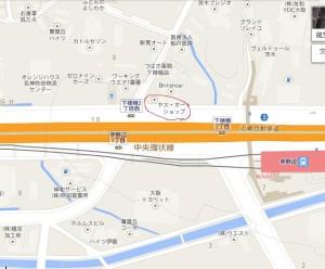 茨木市宇野辺あたりの地図。ヤスオート