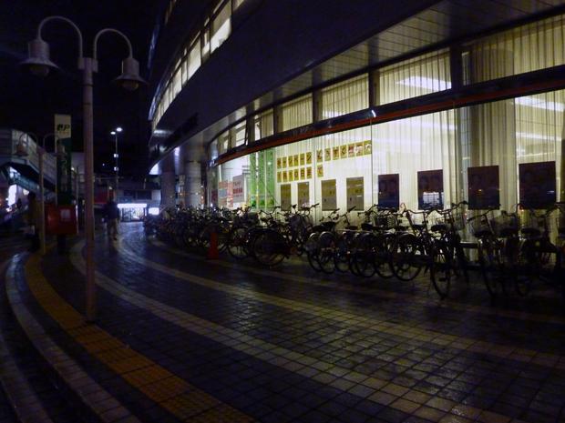 郵便局駐輪場の自転車2