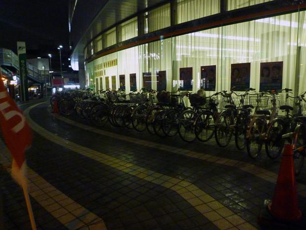 茨木郵便局駐輪場の自転車1