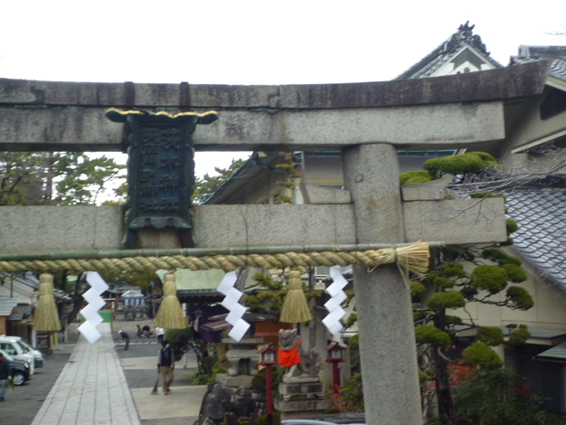1227茨木神社夕方