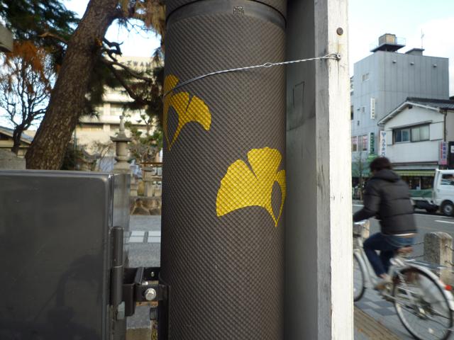 茨木市高橋交差点の電柱