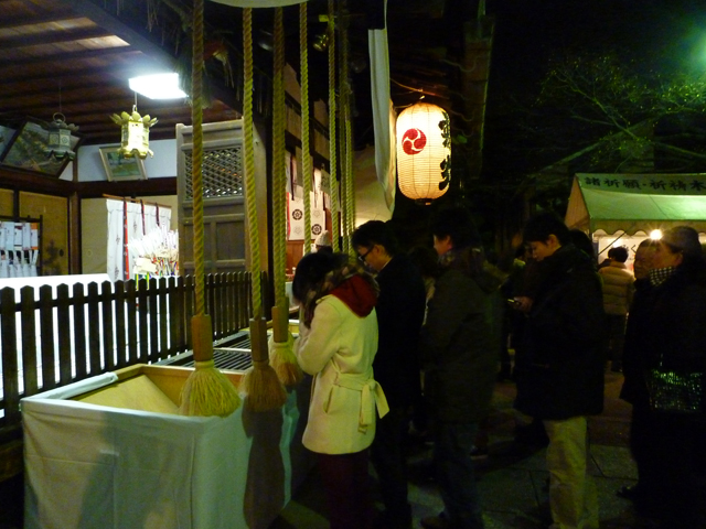 茨木神社お参り中