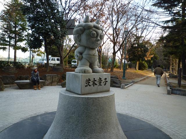 茨木消防所そばの茨木童子