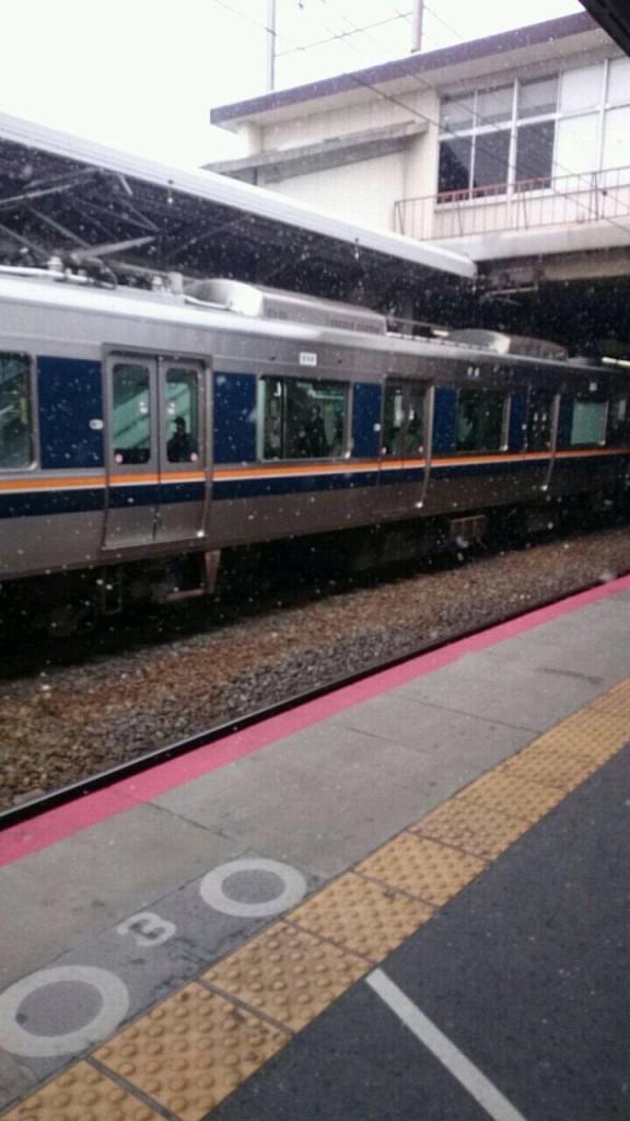 JR茨木駅の雪景色