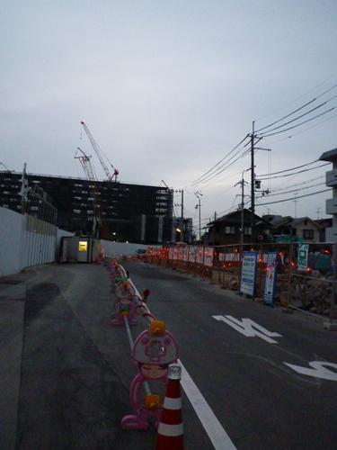 立命館大学周辺道路の工事