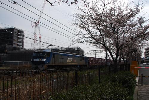 マイカル横の線路で貨物列車