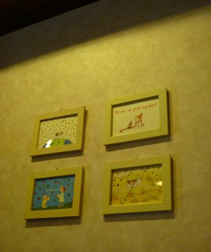 カフェレストランRの壁