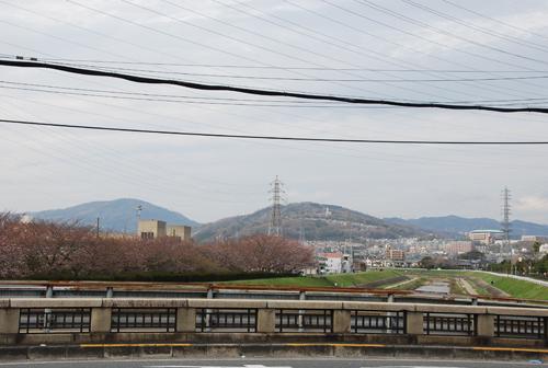 茨木川から山を見る