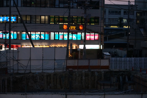 JR茨木駅前ビル工事のアップ