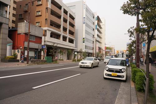 エキスポロードJR茨木駅方面