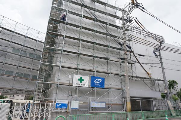 茨木市太田のドンキホーテ高いところの工事