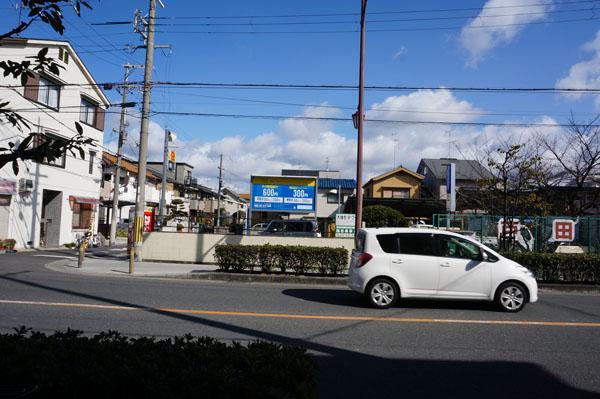 パン屋藏の前の駐車場