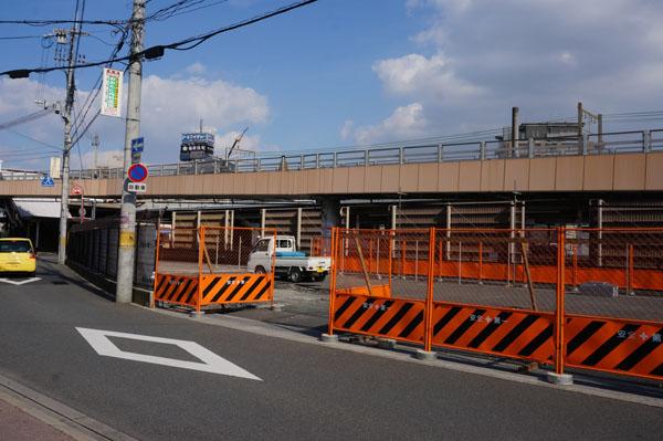 JR駅前駐車場の工事2
