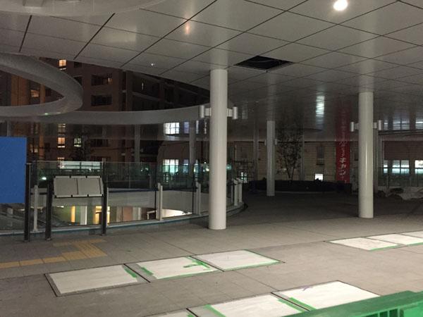 JR茨木駅東口の工事