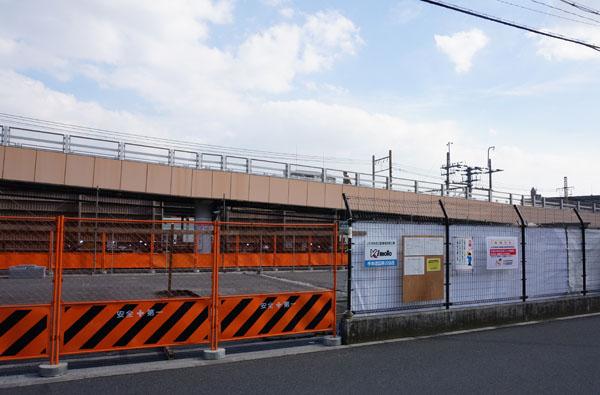 JR駅前駐車場の工事3