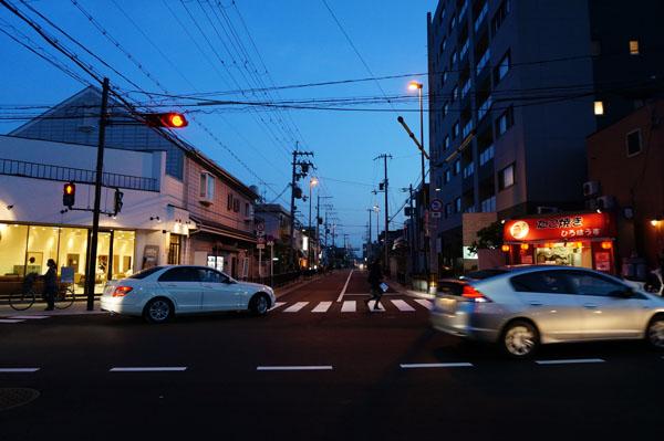 JR茨木東の対面通行になった道