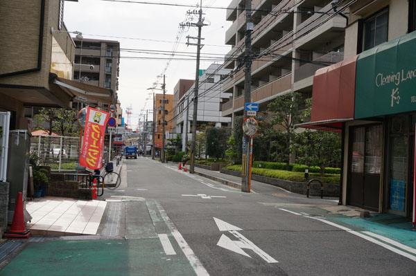 ふじ駐輪場から阪急茨木方面