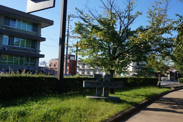 六軒町橋跡の石碑
