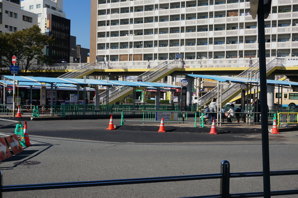 JR西ロータリーのバス乗り場