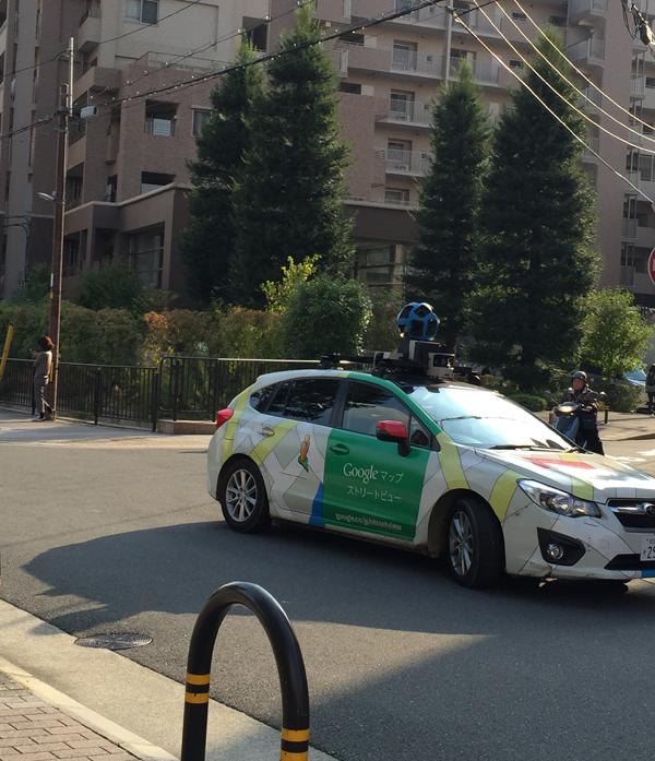 グーグルの車方向転換して発進