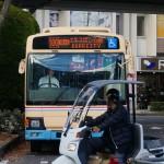 エキスポシティ駅方面のバス