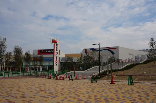 エキスポシティ前の広場