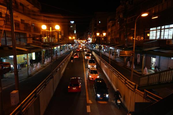 中央通り点灯前