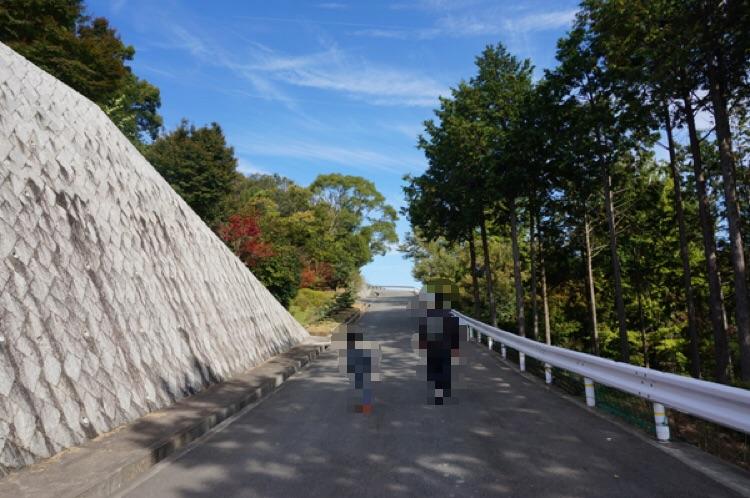 安威川ダムフェスティバルへの坂道2
