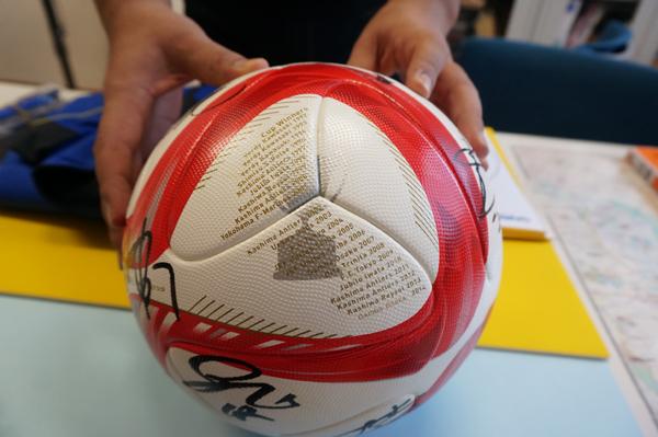 茨木バル景品にサッカーボール