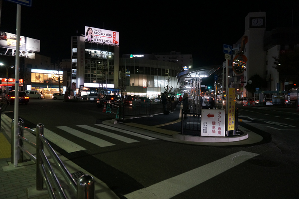 JR茨木西側のバスロータリー中央部
