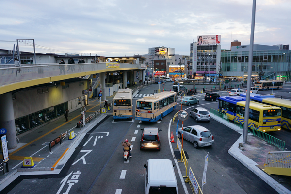 JR茨木西側新しいバス乗り場