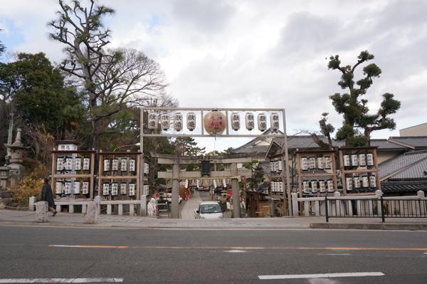 茨木神社の十日戎の準備