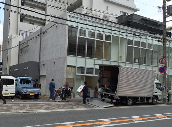 1月4日JR茨木長久ビルのアピス薬局準備