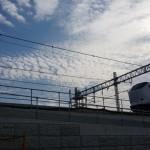JR総持寺工事の風景