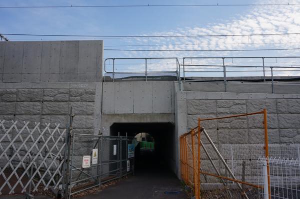 JR総持寺工事三島中そばトンネル北側