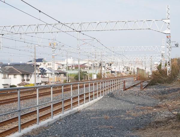 JR総持寺あたり線路京都方面アップ