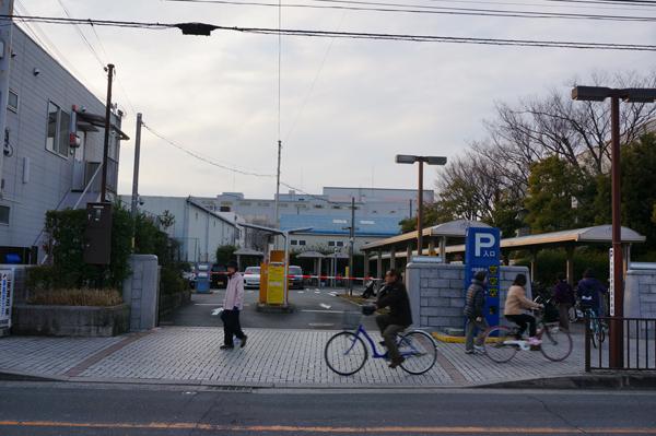 中央図書館の駐車場