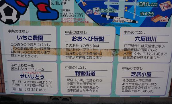 三府寿司の中条まちづくり商店会マップ説明