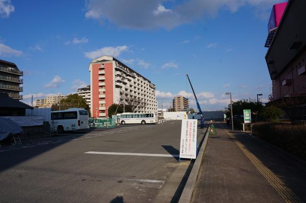 0301アンダーパス工事手前のバス停1