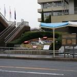 2月22日花時計とバス停
