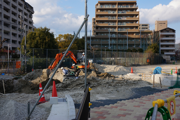 0301施設建てる予定の場所掘削