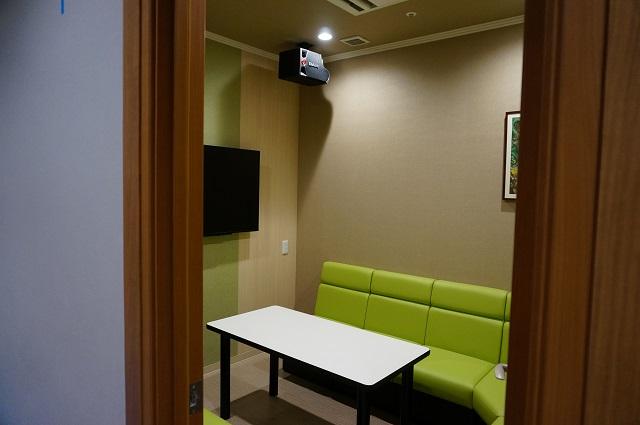 カラオケセブン一階の部屋グリーン