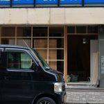 JR駅そばプチプランス沿いの新しいカフェ工事