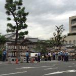 茨木神社お祭りの様子道路から