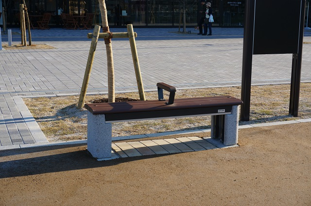 立命岩倉公園防災公園のかまどベンチ