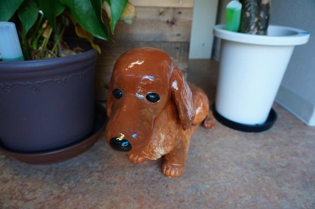犬のお風呂屋さんまさご屋の犬の置物2