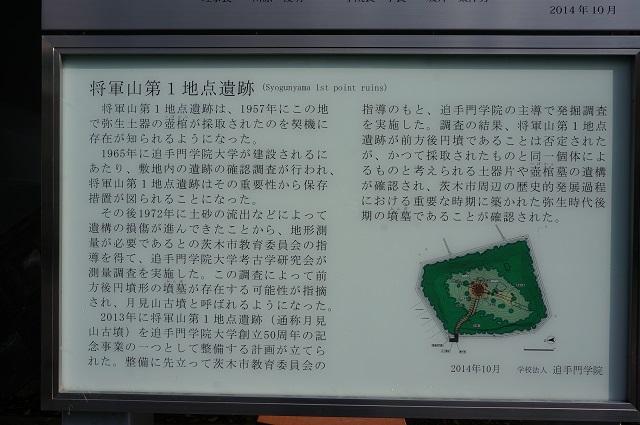 将軍山第1地点遺跡跡案内板