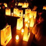 学生と地域の人が飾る「ありがとう」の灯り☆追手門学院大キャンドルナイト