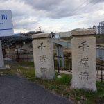 千歳橋から安威川沿いの土手―茨木の風景―千歳橋ってなんて読む?